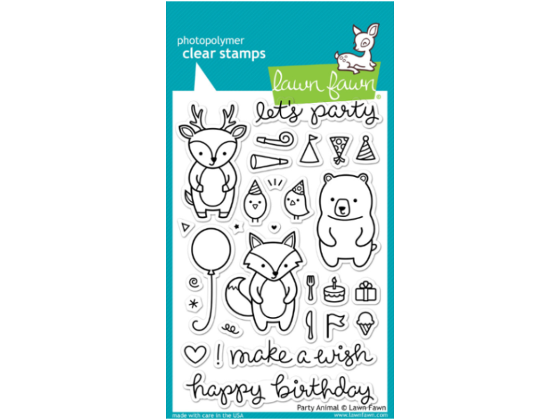 Lawn Fawn Party Animal Cling Stamps Set