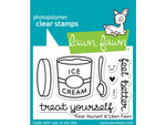 "Lawn Fawn ""Treat Yourself"" Cling Stamp Set"