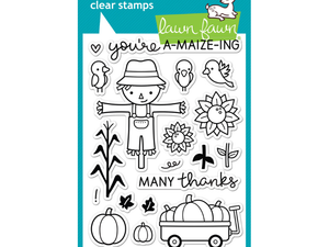 Lawn Fawn Happy Harvest Cling Stamp