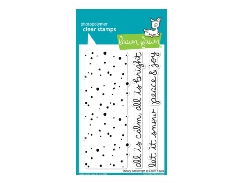 Lawn Fawn Snowy Backdrops Cling Stamp Set