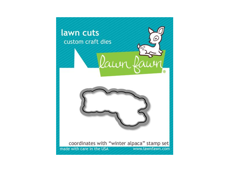 "Lawn Fawn ""Winter Alpaca"" Lawn Cuts"