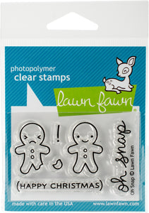 Lawn Fawn Oh Snap Cling Stamp Set