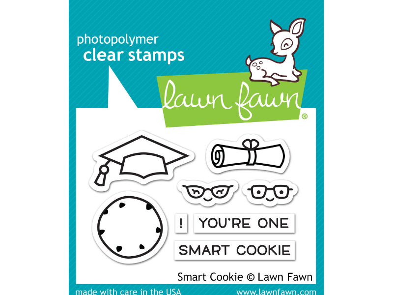 "Lawn Fawn ""Smart Cookie"" Cling Stamp Set"