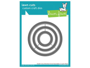 Lawn Fawn Small Cross Stitched Circle Stackables Lawn Cut
