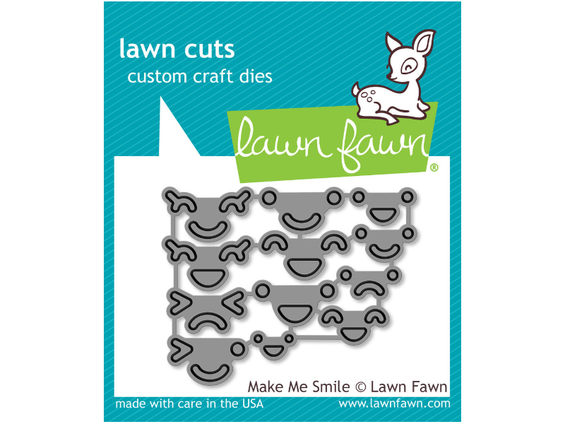"Lawn Fawn ""Make Me Smile""  Lawn Cuts"