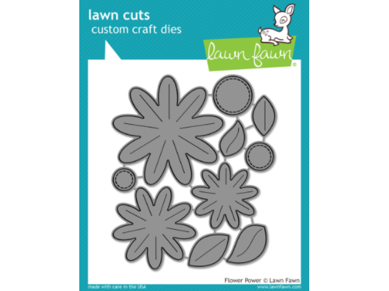 Lawn Fawn Flower Power Lawn Cuts
