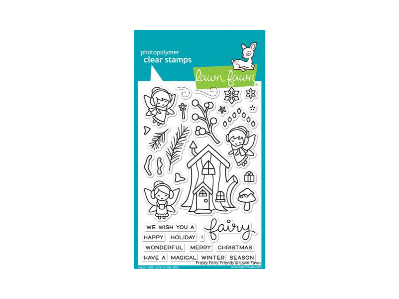 Lawn Fawn Frosty Fairy Friends Cling Stamp Set