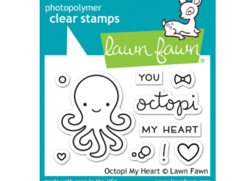 Lawn Fawn Octopi My Heart Cling Stamp Set