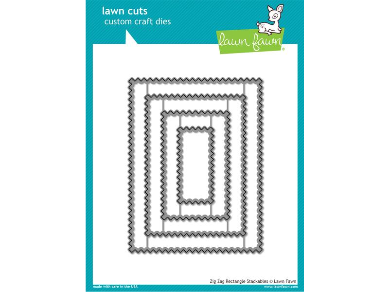 Lawn Fawn Zig Zag Rectangle Stackables Lawn Cuts
