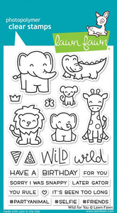 Lawn Fawn Wild for You Cling Stamp Set