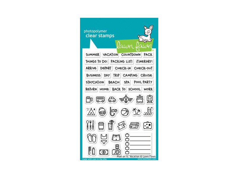 Lawn Fawn Plan on it Vacation Cling Stamp Set