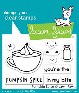Lawn Fawn Pumpkin Spice Cling Stamp Set