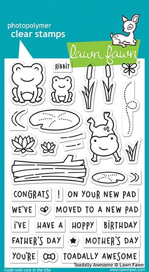 Lawn Fawn Totally Awesome Cling Stamp Set