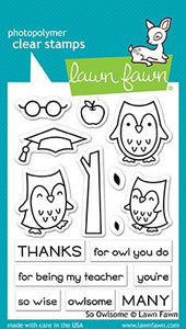 Lawn Fawn So Owlsome Cling Stamp Set