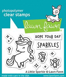 Lawn Fawn A Little Sparkle Cling Stamp Set