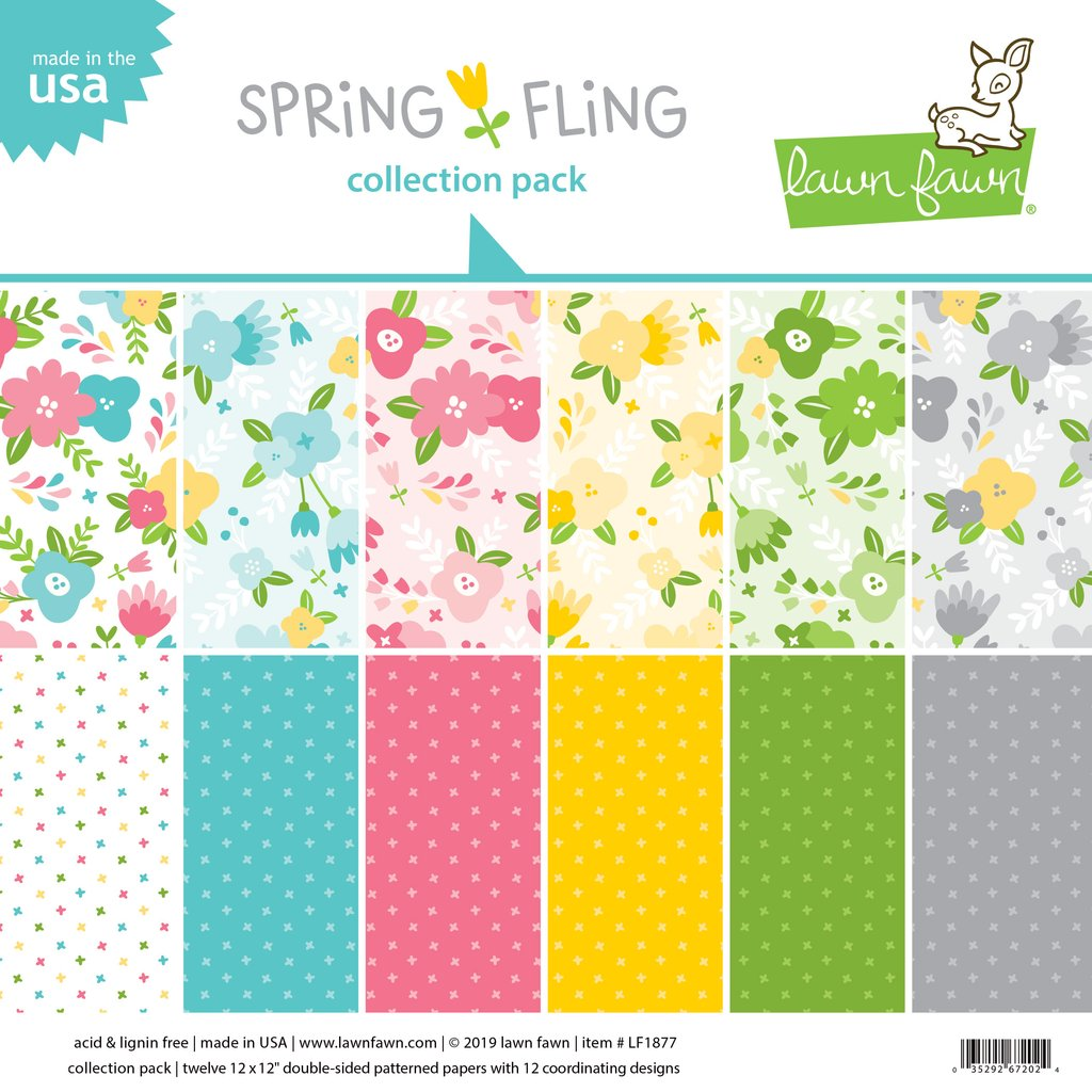 Lawn Fawn Spring Fling Collection 12 x 12 Paper Pack