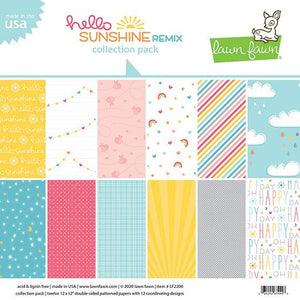 Lawn Fawn Hello Sunshine 12 x 12 Remix Collection Pack