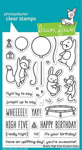 Lawn Fawn Really High Five Cling Stamp Set