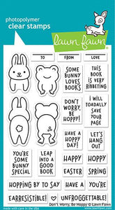 Lawn Fawn Don't Worry, Be Hoppy  Cling Stamp Set