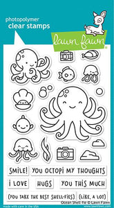 Lawn Fawn Ocean Shell-fie Cling Stamp Set