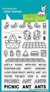 Lawn Fawn Crazy Antics Cling Stamps Set