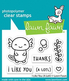 Lawn Fawn I like You a Lot Cling Stamp Set