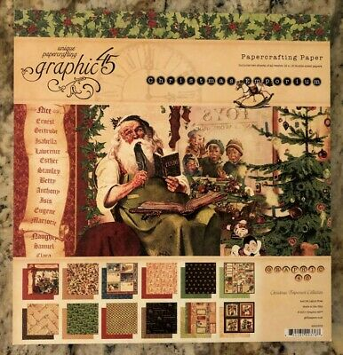 Graphic 45 Christmas Emporium  Collection 12 x 12 Paper Pad RETIRED
