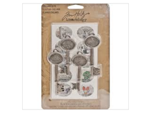 Collage Keys by Tim Holtz Idea-ology 4 Keys and 20 Stickers