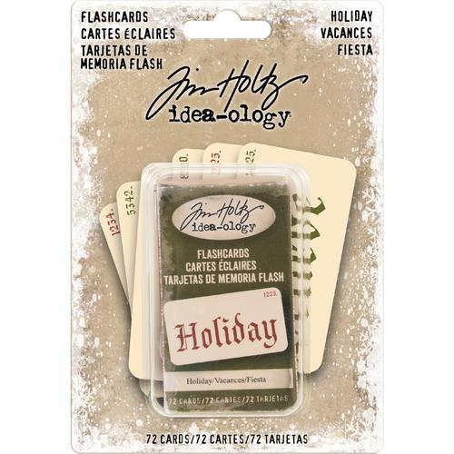 Tim Holtz Ideaology Holiday Old English Font Double-Sided Flashcards