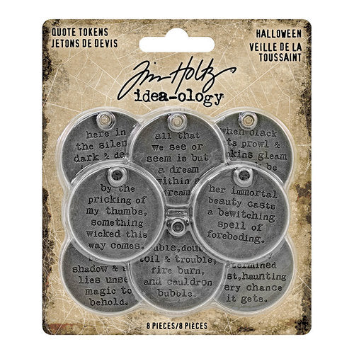 Tim Holtz Idea-ology Halloween Quote Tokens