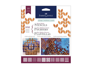Faber Castell Mixed Media Paper  Stencils 10 pack