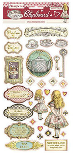 Stamperia Alice in Wonderland Chipboard Pieces