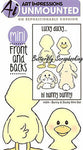 Art Impressions Front N Backs Cling Rubber Stamp 7 X4 Bunny Duck