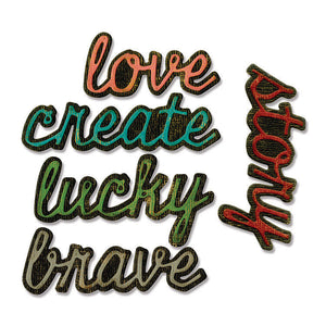 Sizzix - Tim Holtz - Alterations Collection - Thinlits Die - Shadow Script 1