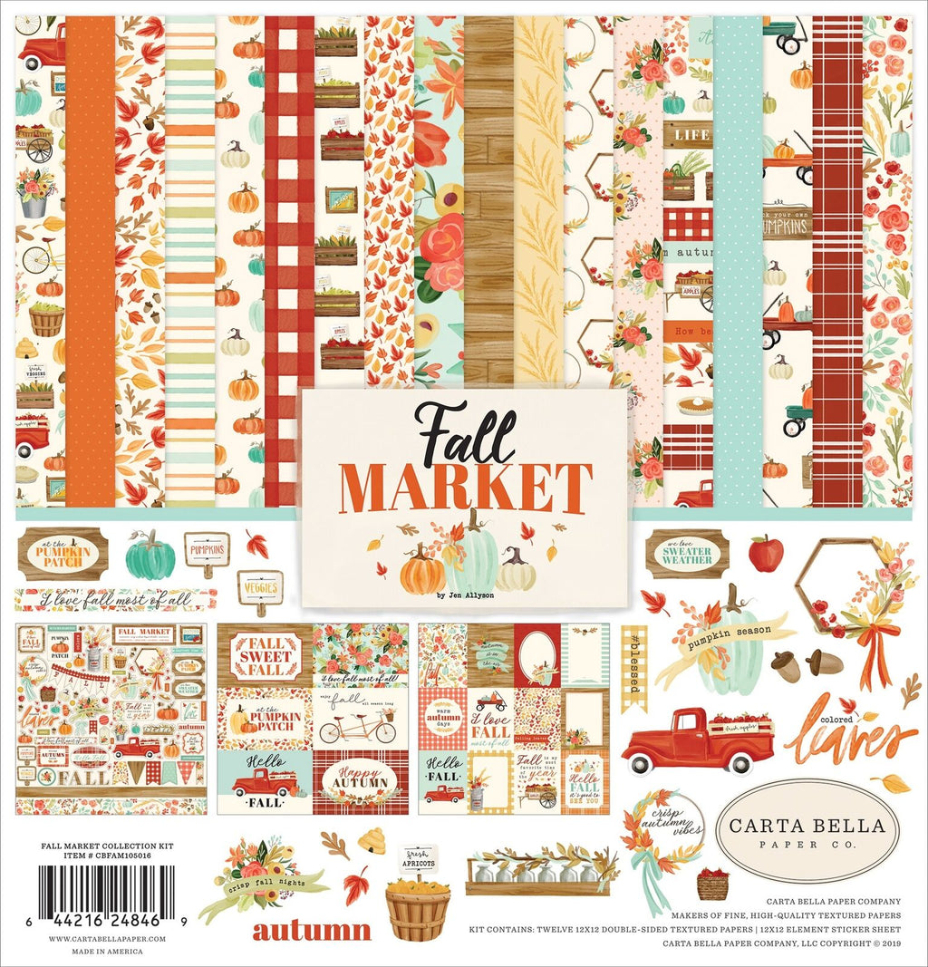 Carta Bella Fall Market  12 x 12 Collection Kit