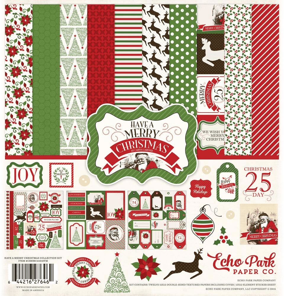 Echo Park Have A Very Merry Christmas 12 x 12 Collection Kit