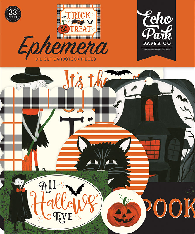 Echo Park Trick or Treat Collection Ephemera Package