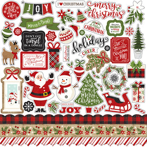 Echo Park A Perfect Christmas Collection Chipboard Accents