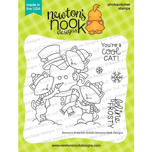 Newton's Nook Snowman Cling Stamp Set