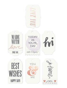 Prima Watercolor Words Tag Me Resist Tags