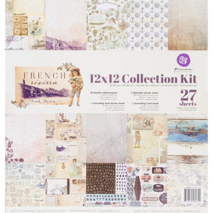 "Prima Marketing Collection Kit 12""x12""-french Riviera"