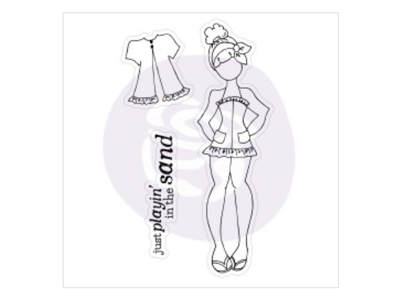 Prima Julie Nutting Lila Cling Stamp