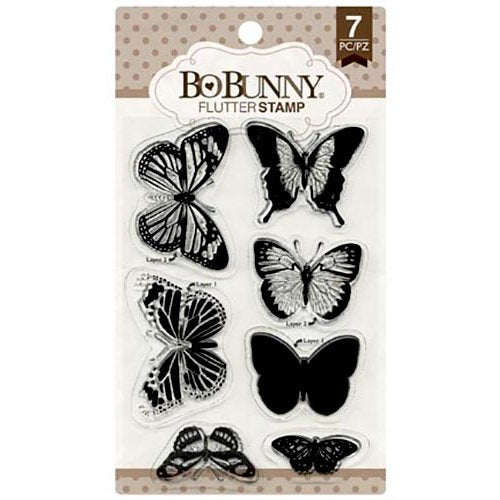 BoBunny - Clear Acrylic Stamps - Flutter