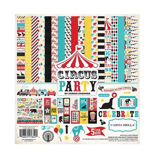 Carta Bella - Circus Party Collection - 12 x 12 Collection Kit