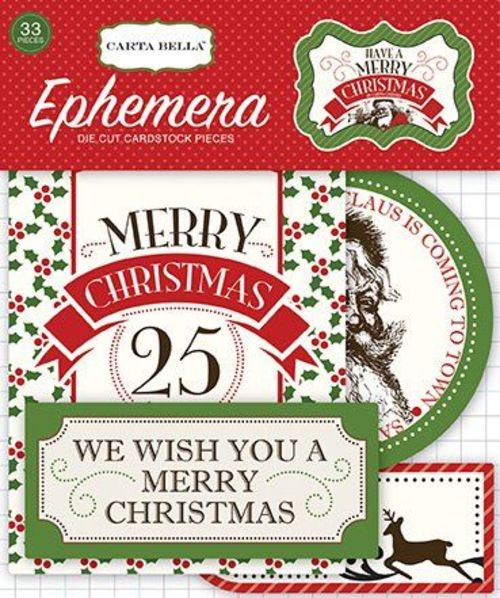 Carta Bella Have A Merry Christmas Ephemera Package