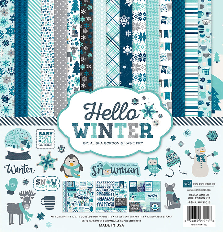 Echo Park - Hello Winter Collection - 12 x 12 Collection Kit