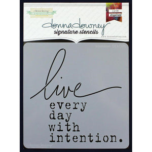 Donna Downey Signature Stencil - Intention