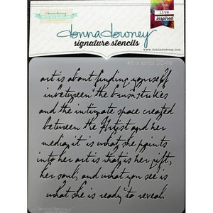 Donna Downey Signature Stencils Art is Script
