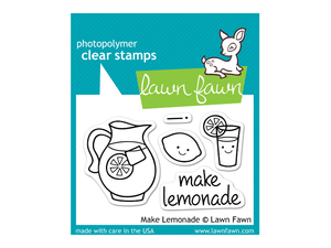 Lawn Fawn Make Lemonade Cling Stamp Set
