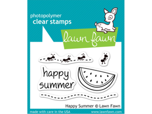 Lawn Fawn Happy Summer Cling Stamps